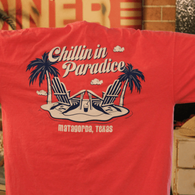 Stanleys General Stores Matagorda Texas Chillin in Paradice t-Shirt