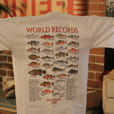 Stanleys General Stores Matagorda Texas World Record Fish Catch t-Shirt