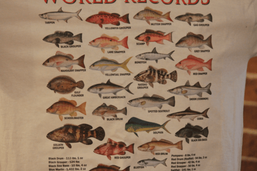 Stanleys General Stores Matagorda Texas World Record Fish Catch t-Shirt